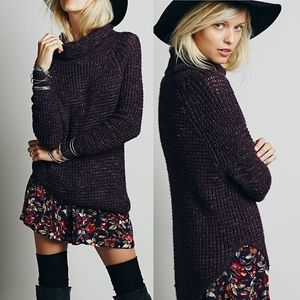 Free People Dylan Tweedy Chunky Knit Sweater Small